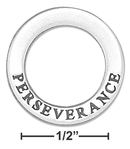 "STERLING SILVER ""PERSEVERANCE"" AFFIRMATION BAND PENDANT"