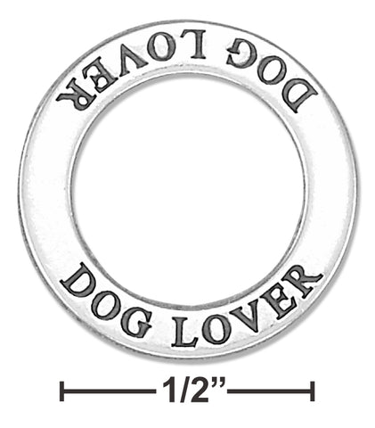 "STERLING SILVER ""DOG LOVER"" AFFIRMATION BAND PENDANT"