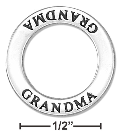 "STERLING SILVER ""GRANDMA"" AFFIRMATION BAND PENDANT"
