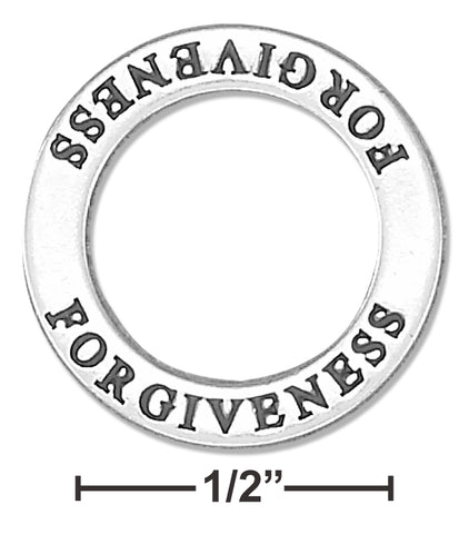 "STERLING SILVER ""FORGIVENESS"" AFFIRMATION BAND PENDANT"