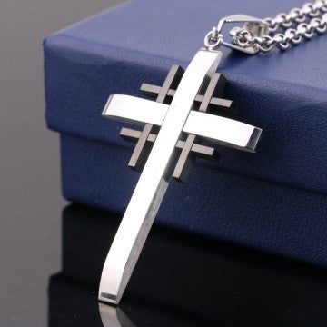 New Arrival Fashion Vintage Men Women Cool  Stainless Steel Cross