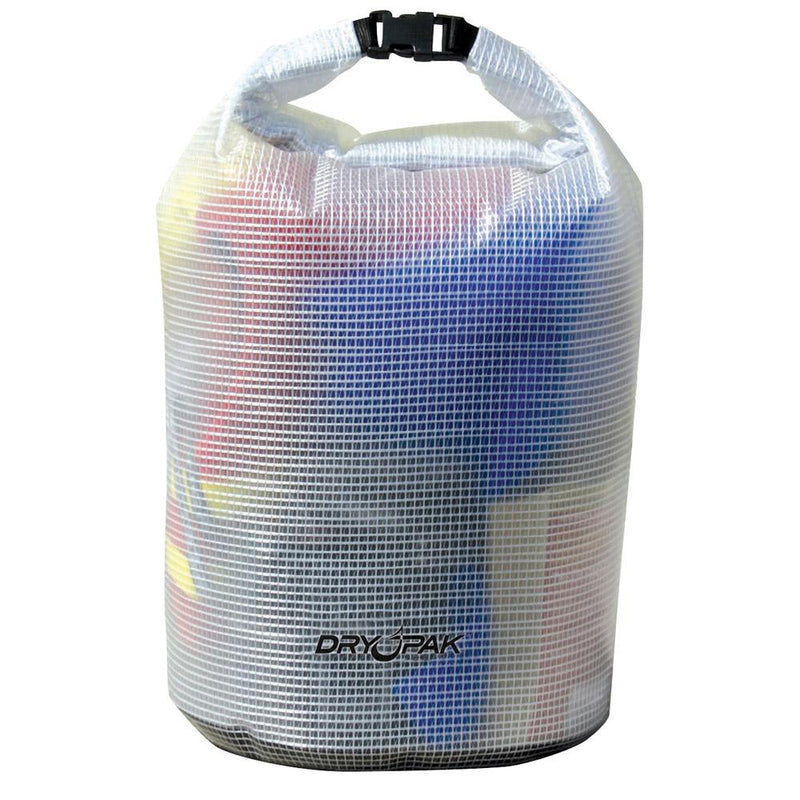 "Dry Pak Roll Top Dry Gear Bag - 11-1-2"" x 19"" - Clear - Lightship Marine Outfitters"