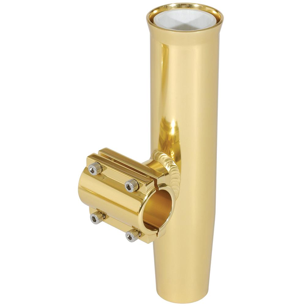 "Lee's Clamp-On Rod Holder - Gold Aluminum - Horizontal Mount - Fits 1.900"" O.D. Pipe - Lightship Marine Outfitters"