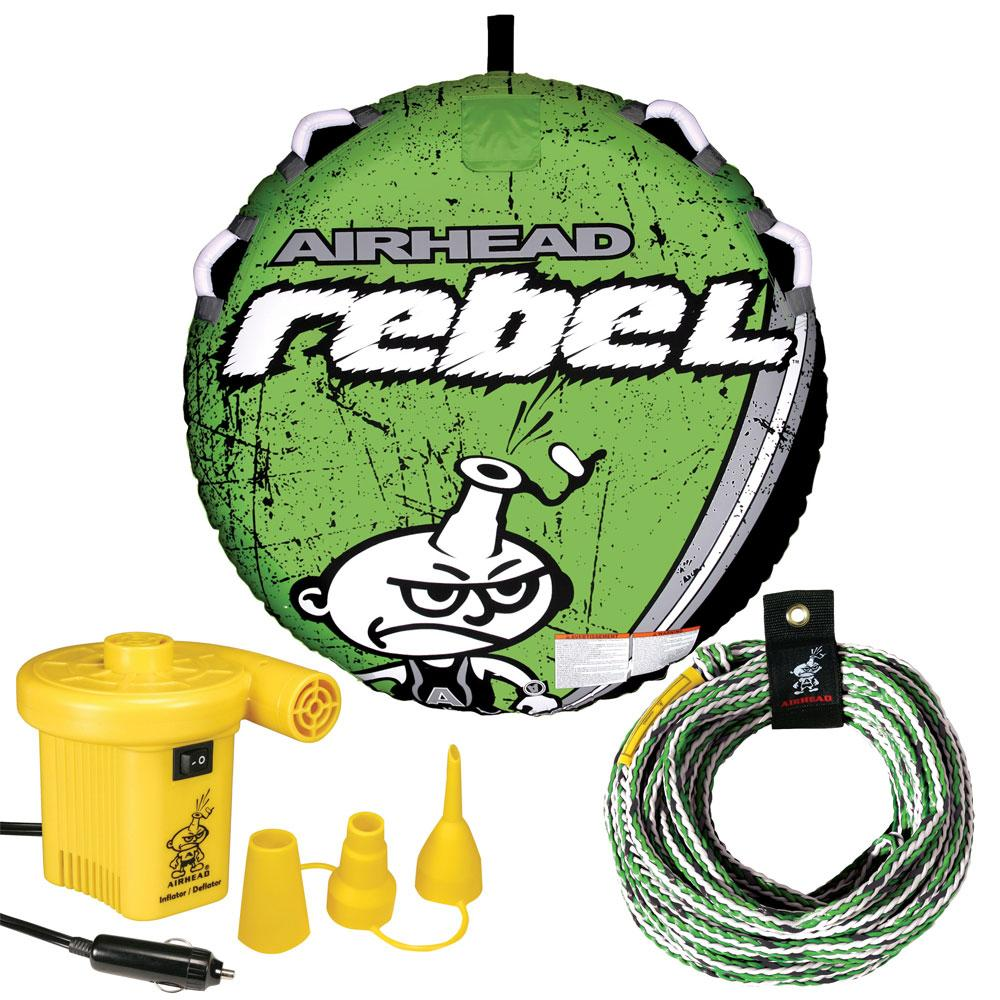 AIRHEAD Rebel Kit w-Deck Tube, Pump & Tube Rope - Lightship Marine Outfitters