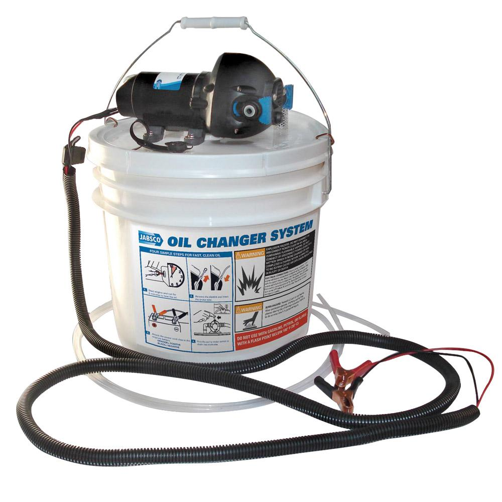 Jabsco DIY Oil Change System w-Pump & 3.5 Gallon Bucket - Lightship Marine Outfitters