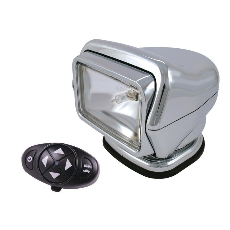 Golight Stryker Searchlight 12V w-Wireless Dash Remote - Chrome - MAP $389.99 - Lightship Marine Outfitters