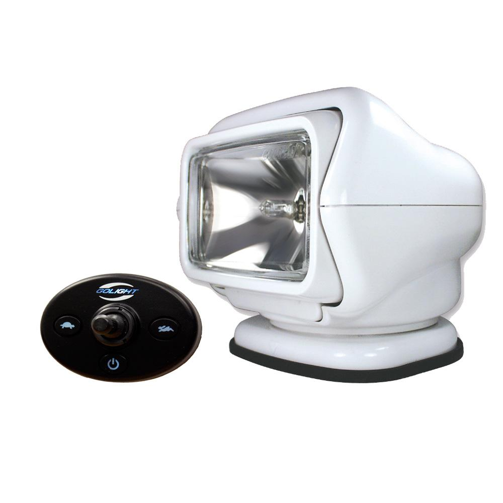 Golight Stryker Searchlight 12V w-Wired Dash Control w-20' Wire Harness - White - MAP $349.99 - Lightship Marine Outfitters