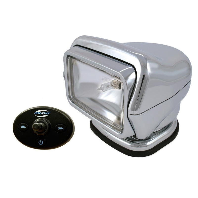 Golight Stryker Searchlight 12V - Wired Dash Control w- 20' Wire Harness - Chrome - MAP $409.99 - Lightship Marine Outfitters