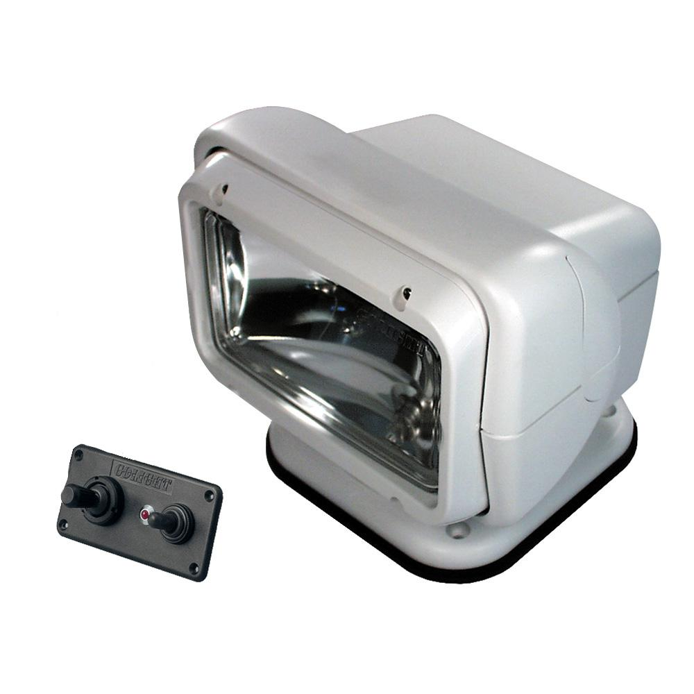 Golight Permanent Mount Searchlight w-Dash Mounted Remote - White  - MAP $179.00 - Lightship Marine Outfitters
