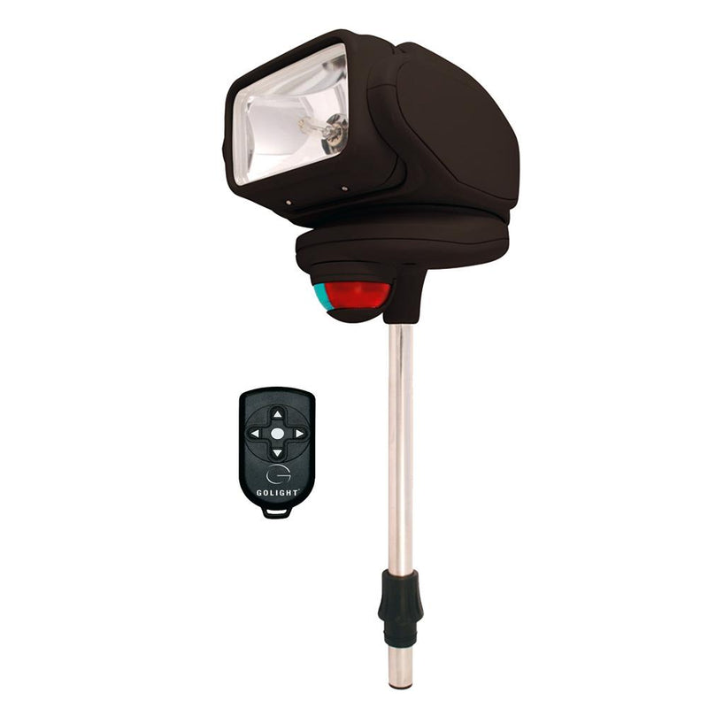 Golight Gobee Stanchion Mount w-Wireless Remote - Black - MAP $189.99 - Lightship Marine Outfitters