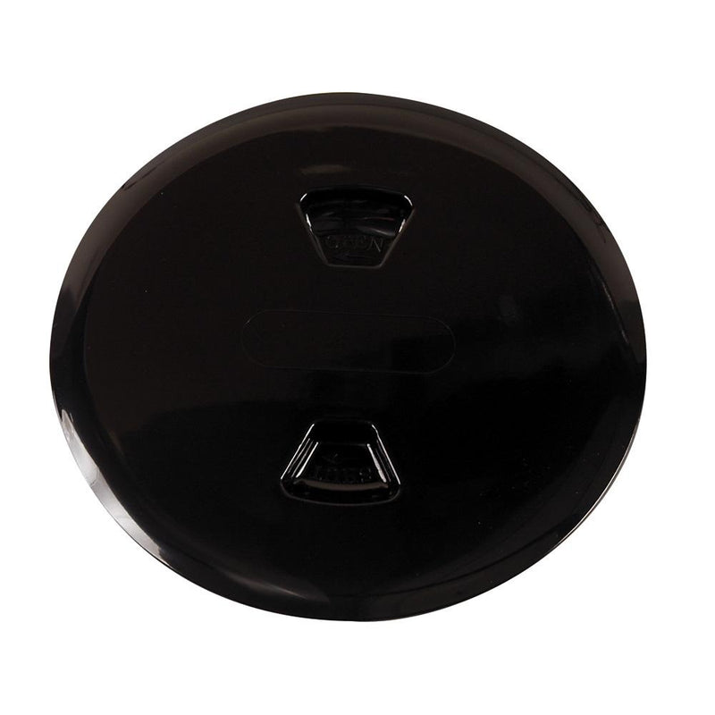 "Beckson 5"" Twist-Out Deck Plate - Black - Lightship Marine Outfitters"