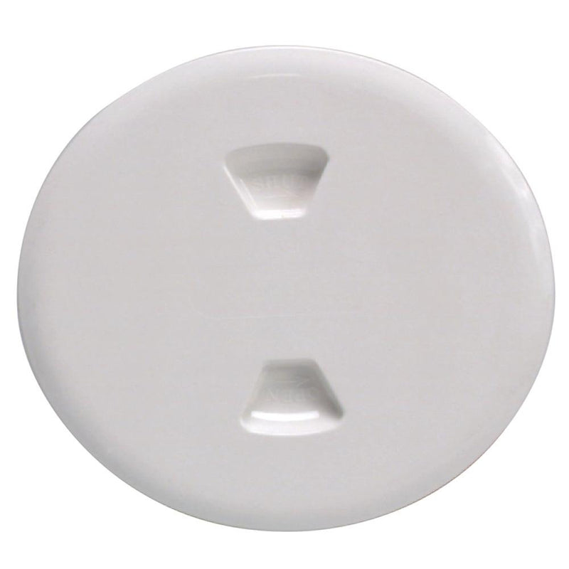 "Beckson 5"" Twist-Out Deck Plate - White - Lightship Marine Outfitters"