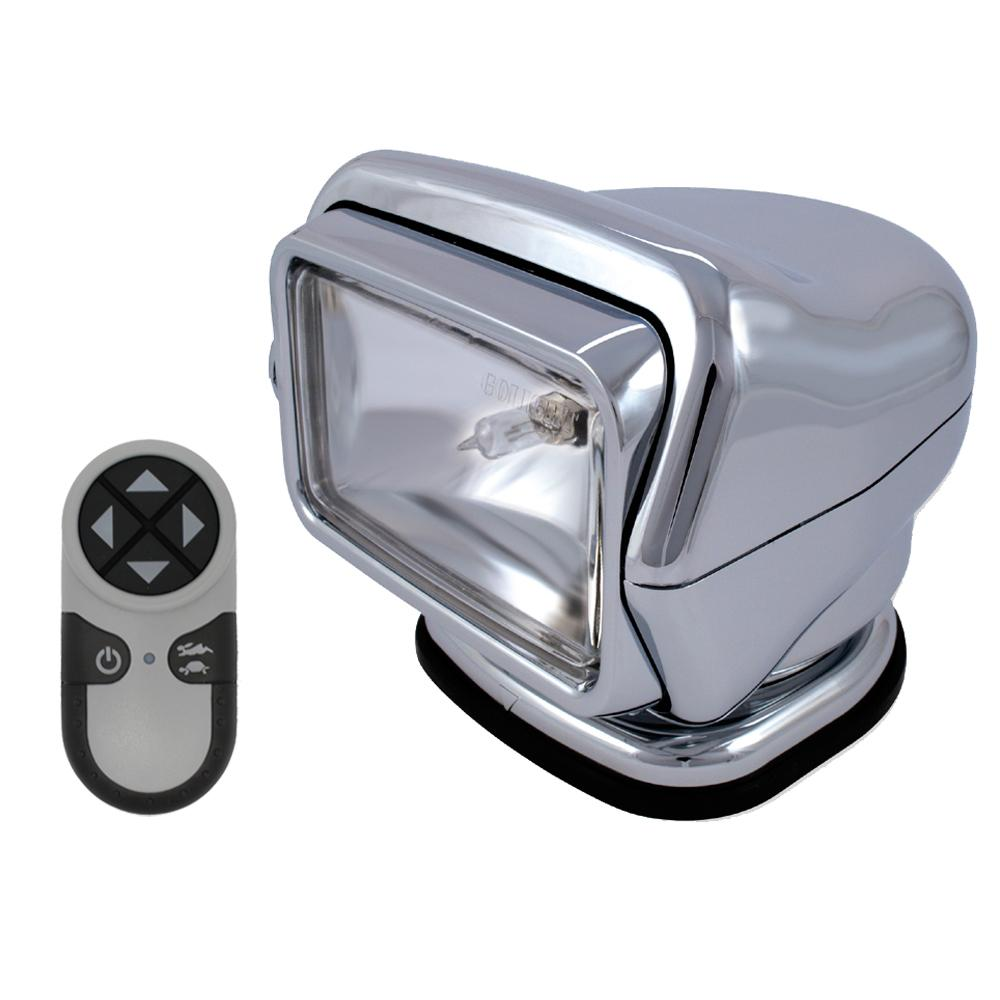Golight Stryker Searchlight w-Handheld Wireless Remote - Magnetic Base - Chrome - MAP $409.99 - Lightship Marine Outfitters