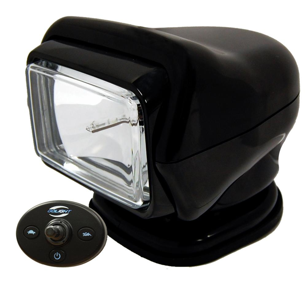 Golight HID Stryker Searchlight w-Wired Dash Remote - Permanent Mount - Black - MAP $649.99 - Lightship Marine Outfitters