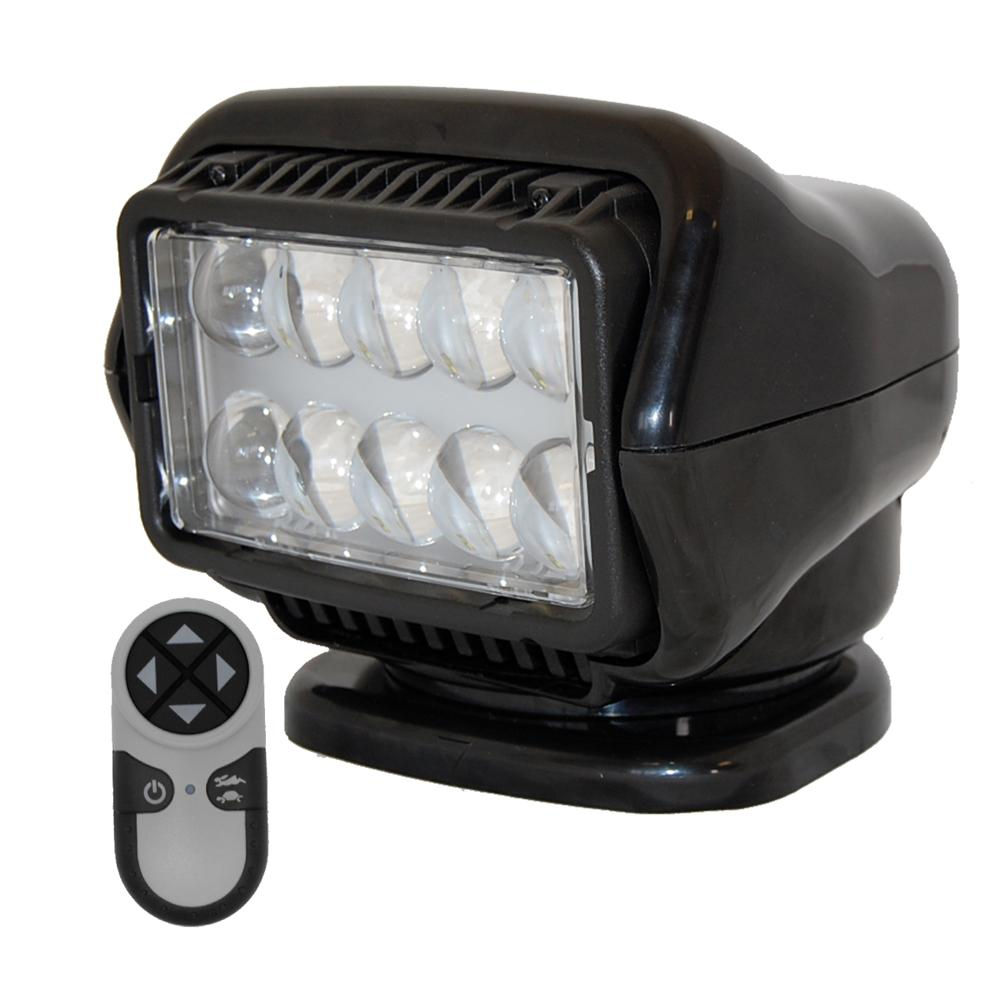 Golight LED Stryker Searchlight w-Wireless Handheld Remote - Permanent Mount - Black - MAP $599.99 - Lightship Marine Outfitters