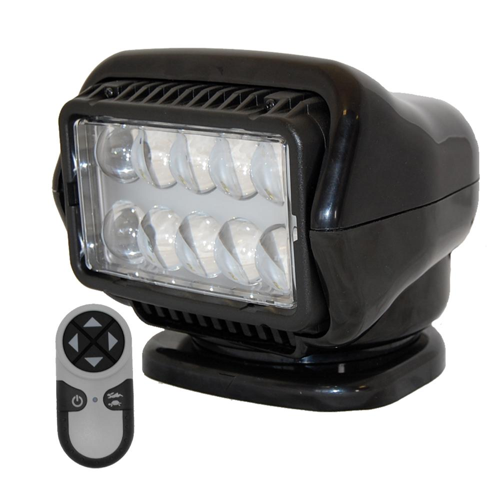 Golight LED Stryker Searchlight w-Wireless Handheld Remote - Magnetic Base - Black - MAP $649.99 - Lightship Marine Outfitters