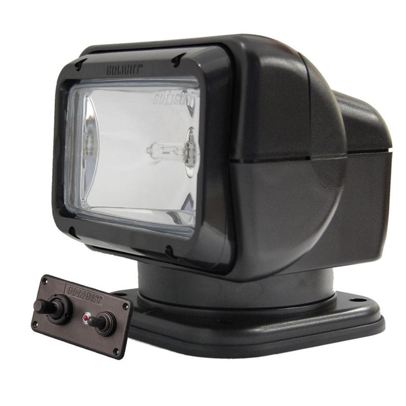 Golight Searchlight w-Wired Dash Mount Remote - Permanent Mount - Black - MAP $179.99 - Lightship Marine Outfitters
