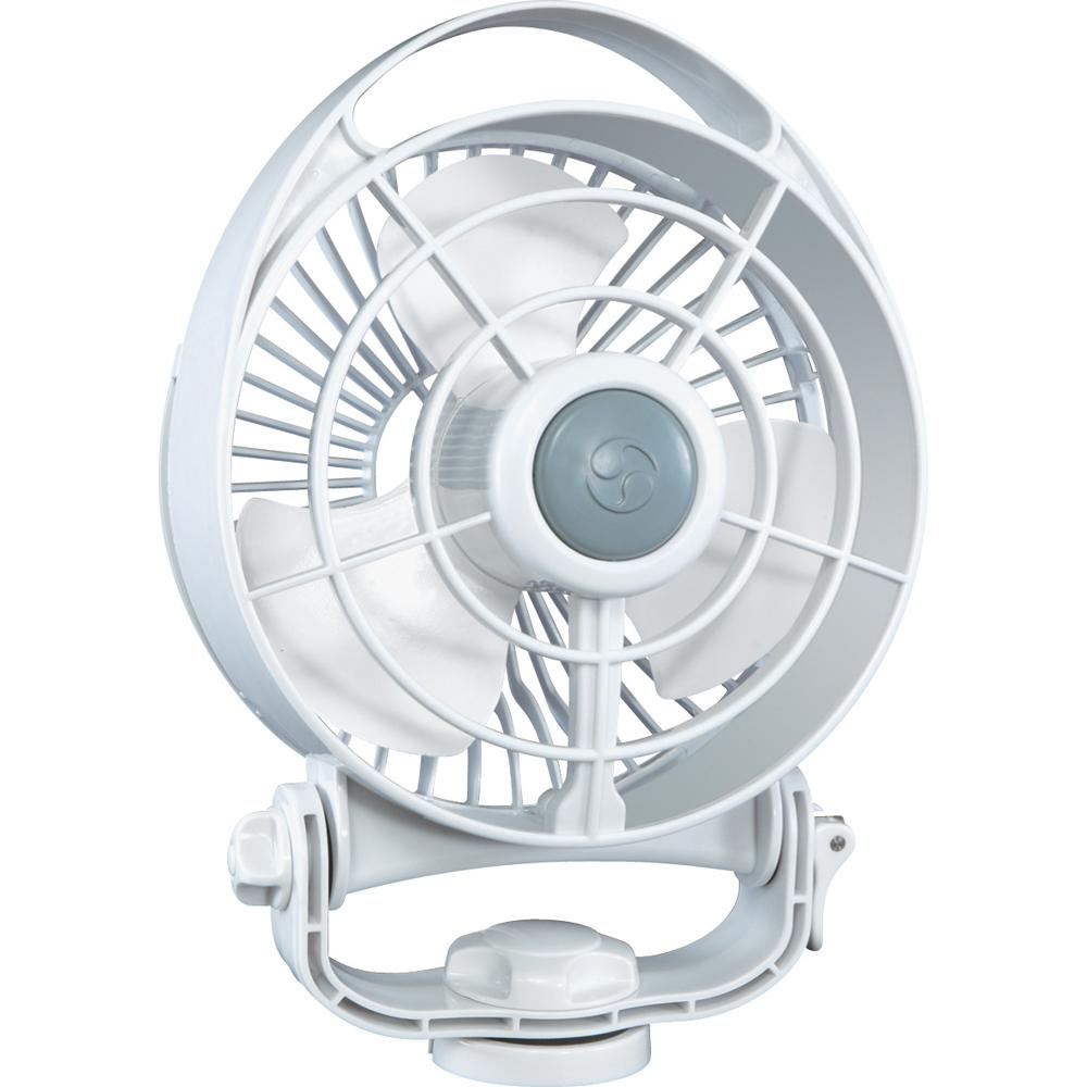 "Caframo Bora 748 24V 3-Speed 6"" Marine Fan - White - MAP $89.99 - Lightship Marine Outfitters"