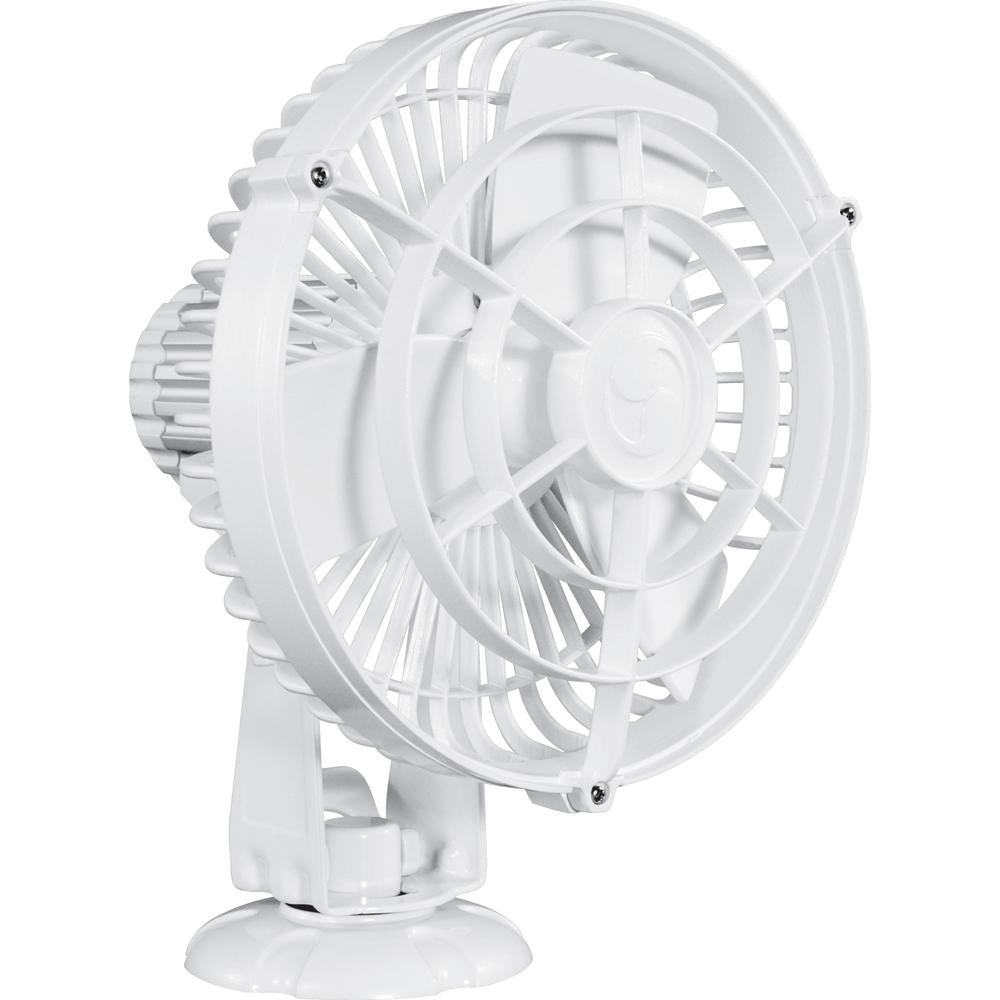 "Caframo Kona 817 12V 3-Speed 7"" Waterproof Fan - White - MAP $129.99 - Lightship Marine Outfitters"