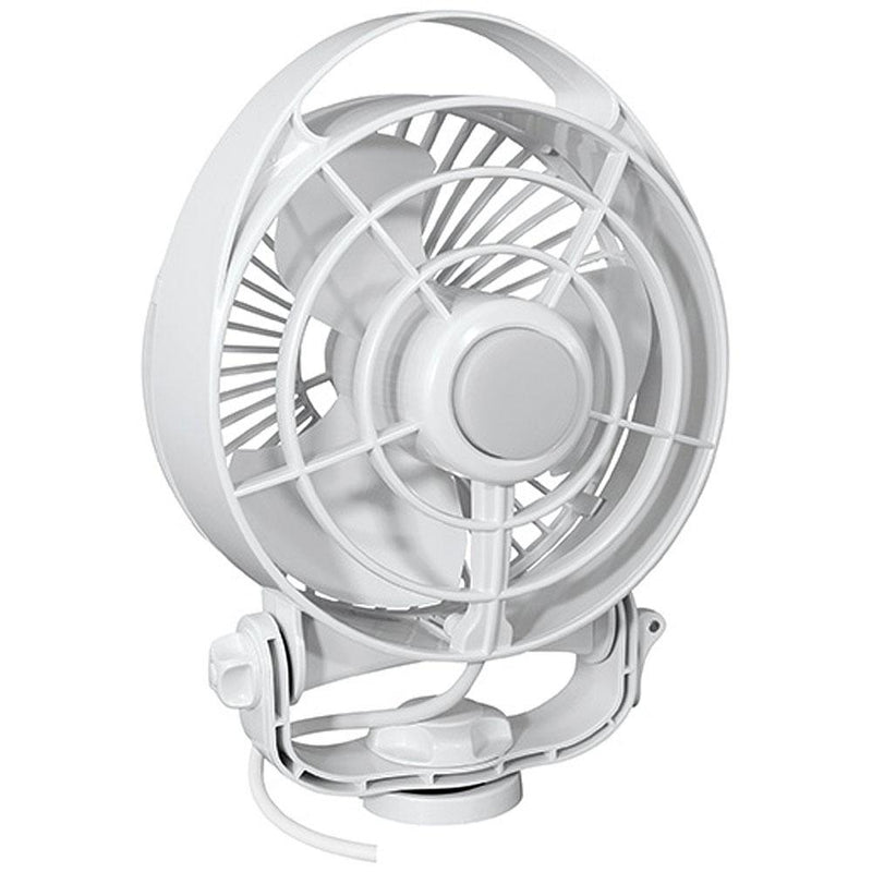"Caframo Maestro 12V 3-Speed 6"" Marine Fan w-LED Light - White - MAP $99.99 - Lightship Marine Outfitters"
