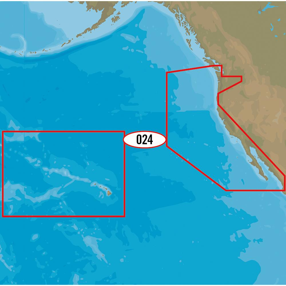 C-MAP MAX-N+ NA-Y024 - USA, West Coast & HI - Lightship Marine Outfitters