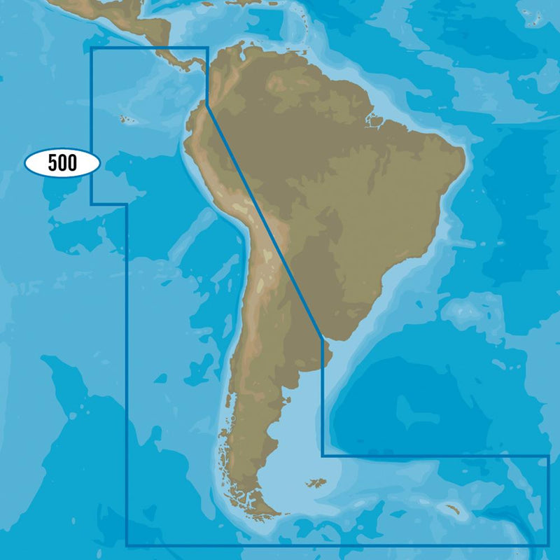 C-MAP MAX-N+ SA-Y500 - Costa Rica to Chile to Falklands - Lightship Marine Outfitters