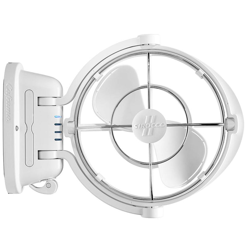"Caframo Sirocco II 3-Speed 7"" Gimbal Fan - White - 12-24V - MAP $109.99 - Lightship Marine Outfitters"