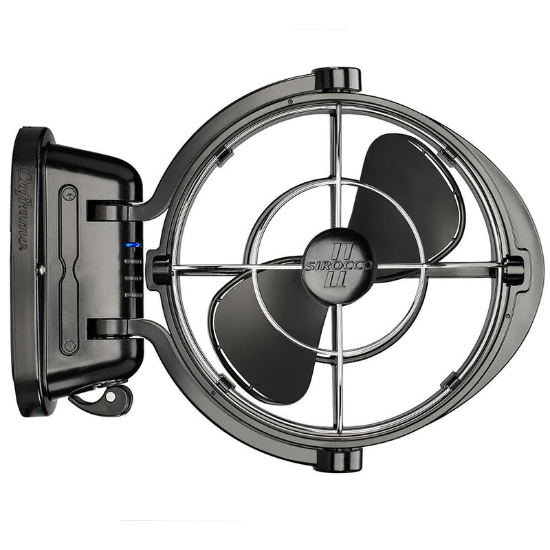 "Caframo Sirocco II 3-Speed 7"" Gimbal Fan - Black - 12-24V - MAP $109.99 - Lightship Marine Outfitters"