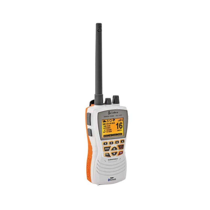 Cobra MR HH600W Floating GPS VHF Radio w-Bluetooth - White - MAP $199.95 - Lightship Marine Outfitters