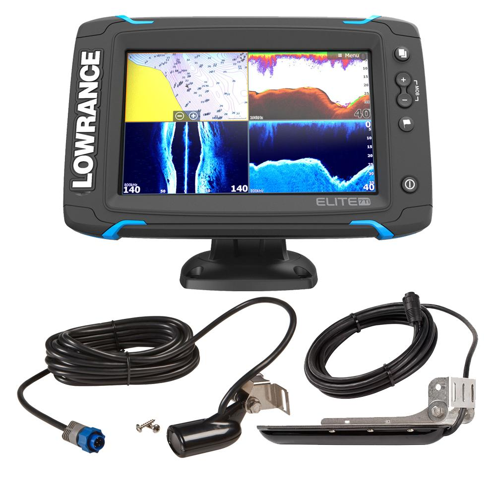 Marine Navigation Equipment Tagged Gps Fishfinder Combos Lowrance Sonichub Wiring Diagram Elite 7 Ti Bundle W Med High Skimmer Ducer Structurescan Hd Y Cable