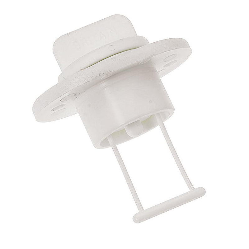 "Barton Marine Drain Plug and Socket - 15mm (.60"") Bore - White - Lightship Marine Outfitters"