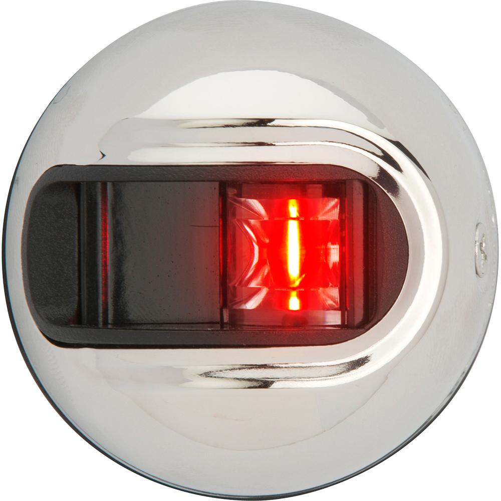 Attwood LightArmor Vertical Surface Mount Navigation Light - Port (red) - Stainless Steel - 2NM - Lightship Marine Outfitters