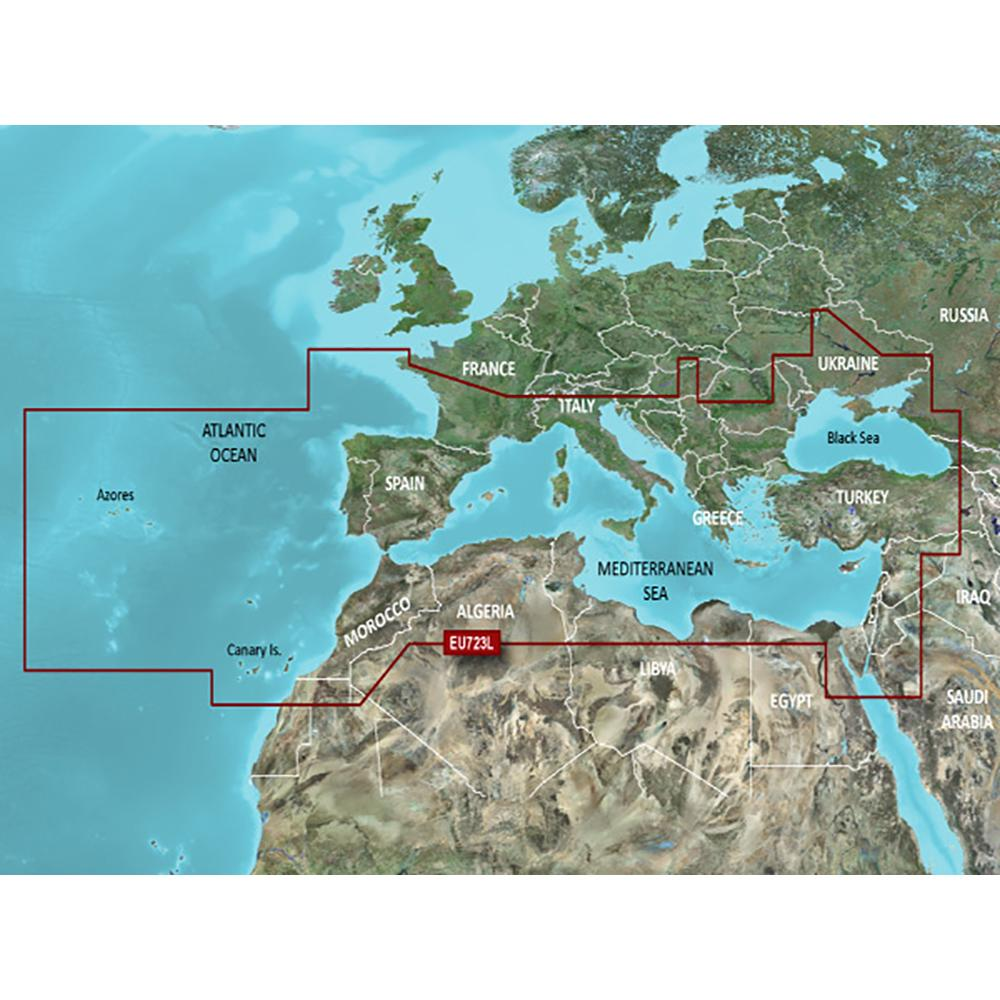 Garmin VEU723L Southern Europe BlueChart g2 Vision - Lightship Marine Outfitters