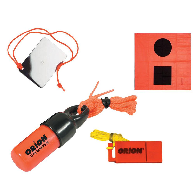 Orion Signaling Kit - Flag, Mirror, Dye Marker & Whistle - Lightship Marine Outfitters