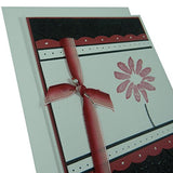 Red Flower Mother's Day Card - Handmade Mother's Day Greeting Card - Black Texture with Pink - Embellish by Jackie
