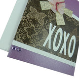 Valentine's Day Greeting Card - Purple Valentine - XOXO - Handmade Valentine's Card - Love Card - Embellish by Jackie