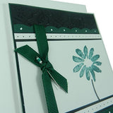 Forest Green Flower Mother's Day Card - Handmade Mother's Day Greeting Card - Black Texture - Embellish by Jackie