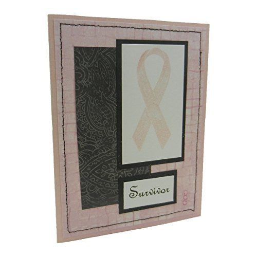 Handmade Breast Cancer Greeting Card Survivor Pink Ribbon Get Well Soon Card - Embellish by Jackie