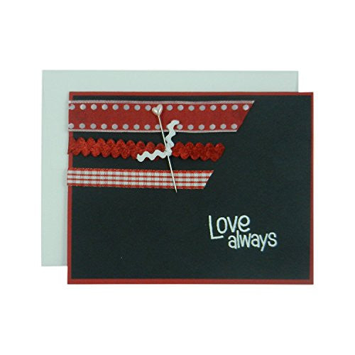 Valentine's Day Greeting Card - Handmade Valentine - Love Always - Handmade Valentine's Card - Embellish by Jackie