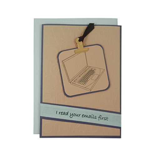Administrative Assistants Day Greeting Card - I read your e-mails first - Secretary's Day Card - Administrative Assistant Thank You Card - Embellish by Jackie