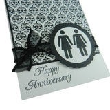 Damask Anniversary Card Gay Anniversary Card Lesbian Anniversary Card same Sex Card Gay Gift