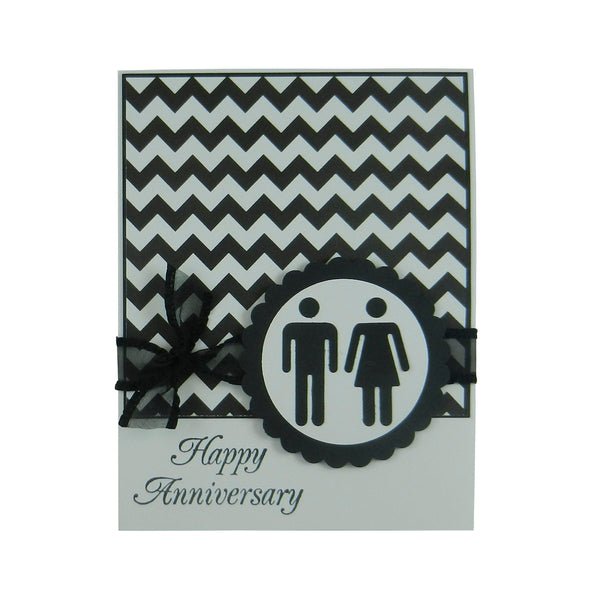 Chevron Anniversary Card Anniversary Card Male and Female - Embellish by Jackie