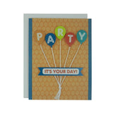 Balloon Happy Birthday Handmade Greeting Card Generic Birthday Card - Embellish by Jackie