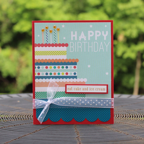 Birthday Cake Happy Birthday Handmade Greeting Card Generic Birthday Card birthday card for kids