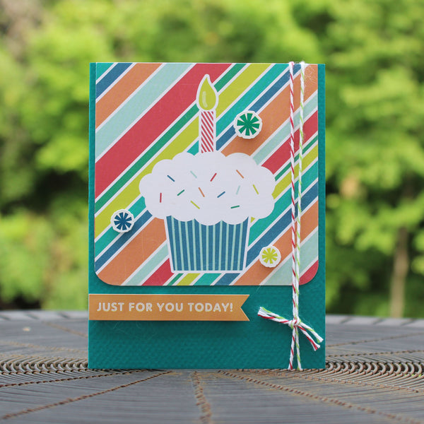 Cupcake Happy Birthday Handmade Greeting Card Generic Birthday Card birthday card for kids happy birthday greetings Just for you today! - Embellish by Jackie