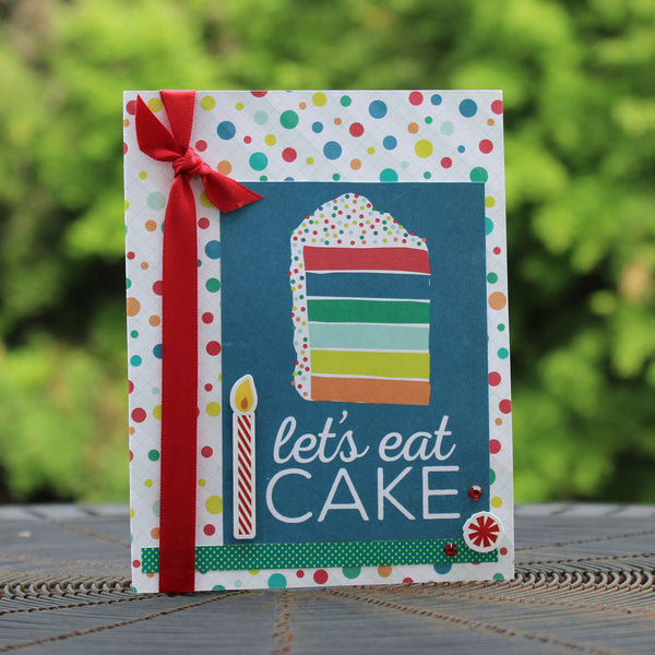 Cake Happy Birthday Handmade Greeting Card Generic Birthday Card birthday card for kids happy birthday greetings Let's eat cake