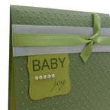 Baby Boy Handmade Congratulations Greeting Card - Baby Joy Green with polka dots - Embellish by Jackie