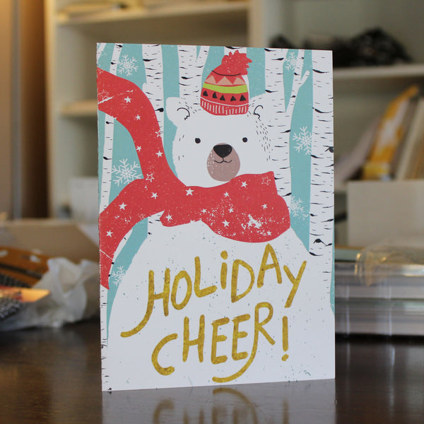 Snow Bear Holiday Cheer 10 Pack Christmas Cards - Embellish by Jackie