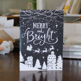 Black and White Nighttime Merry and Bright 10 Pack Christmas Cards - Embellish by Jackie