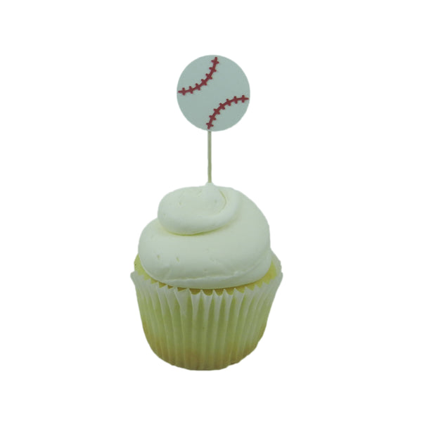 Baseball Cupcake Toppers Set of 12 | Sports themed Party Décor | Boy Birthday Decorations - Embellish by Jackie